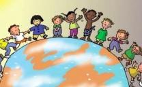 El Consell dels infants de Mieres amb els refugiats