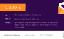 ALBA, Associació de Dones de la Garrotxa, dona mil euros per ajudar a dones en situació de vulnerabilitat
